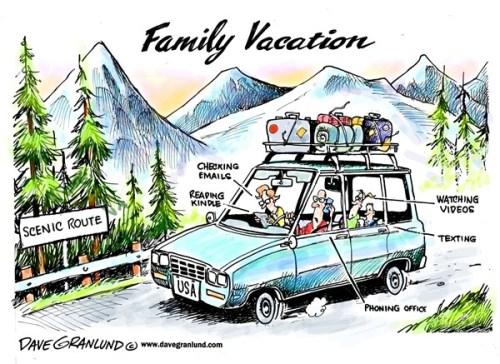family vacation cartoon
