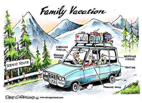 family vacation cartoon
