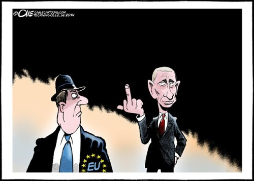 PUTIN GIVES THE FINGER TO EU