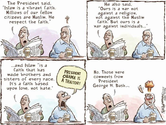 Cartoon Of The Day What The President Said On The Muslim Religion Beautiful Also Are The Souls Of My Black Sisters
