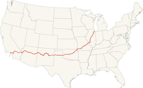 FORMER ROUTE 66 MAP